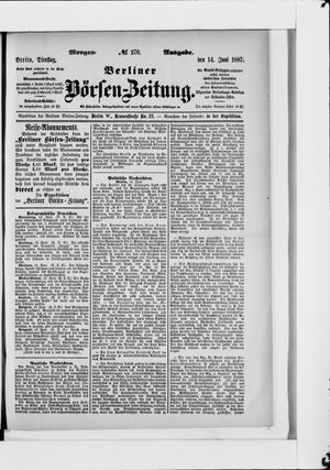 Berliner Börsen-Zeitung vom 14.06.1887
