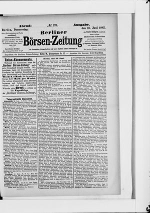 Berliner Börsen-Zeitung vom 16.06.1887