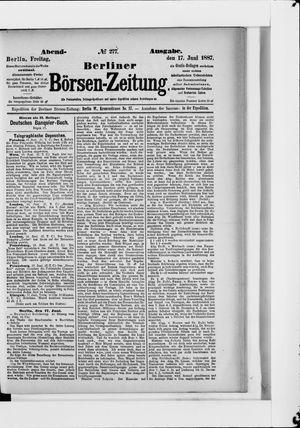 Berliner Börsen-Zeitung on Jun 17, 1887