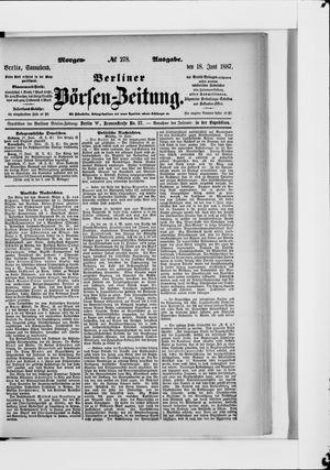 Berliner Börsen-Zeitung vom 18.06.1887