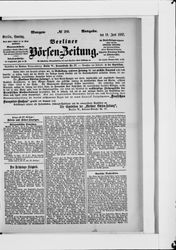 Berliner Börsenzeitung (19.06.1887)