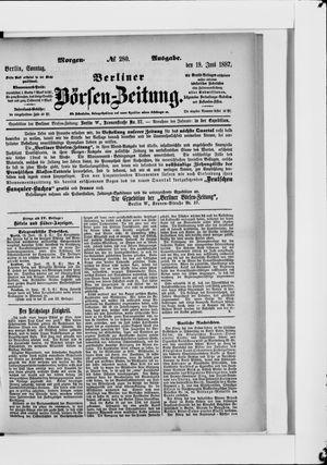 Berliner Börsen-Zeitung vom 19.06.1887