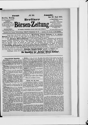 Berliner Börsen-Zeitung vom 20.06.1887