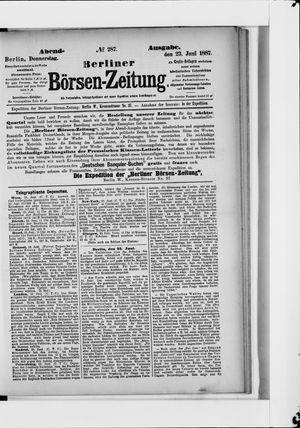 Berliner Börsen-Zeitung vom 23.06.1887