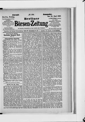 Berliner Börsen-Zeitung vom 24.06.1887
