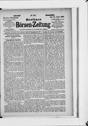 Berliner Börsen-Zeitung vom 25.06.1887