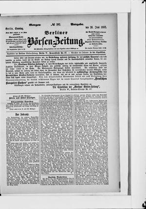Berliner Börsen-Zeitung vom 26.06.1887