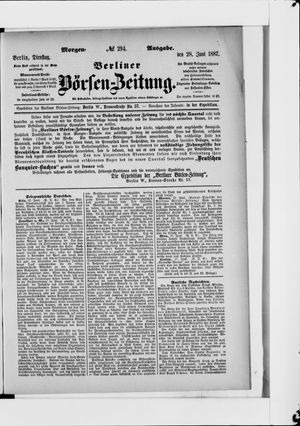 Berliner Börsen-Zeitung vom 28.06.1887