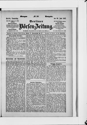 Berliner Börsen-Zeitung vom 30.06.1887