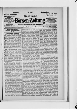 Berliner Börsen-Zeitung vom 02.07.1887