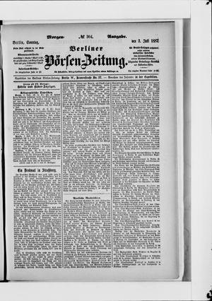 Berliner Börsen-Zeitung vom 03.07.1887