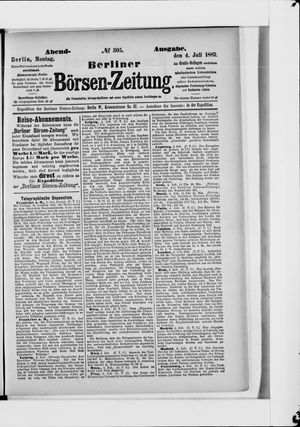 Berliner Börsen-Zeitung vom 04.07.1887