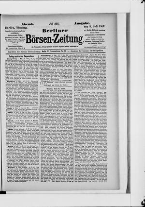 Berliner Börsen-Zeitung vom 05.07.1887