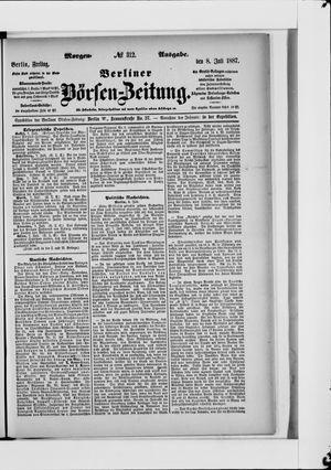 Berliner Börsen-Zeitung vom 08.07.1887