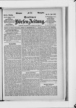 Berliner Börsen-Zeitung vom 10.07.1887