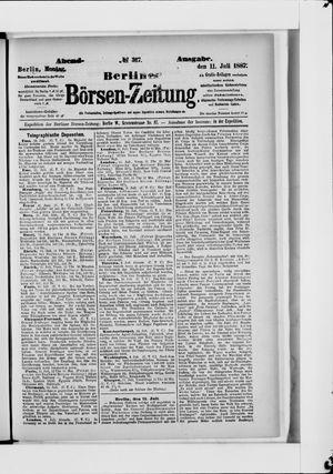 Berliner Börsen-Zeitung vom 11.07.1887
