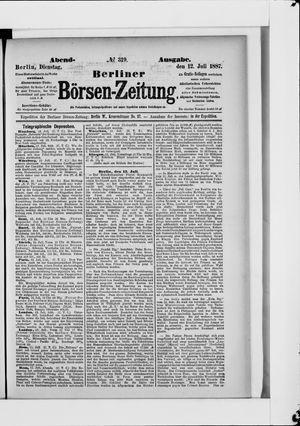 Berliner Börsen-Zeitung vom 12.07.1887