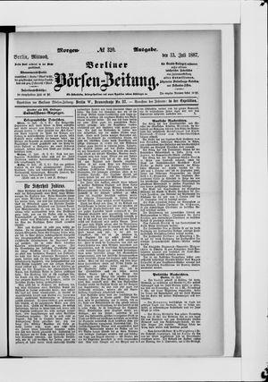 Berliner Börsen-Zeitung vom 13.07.1887