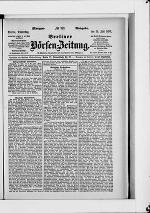 Berliner Börsen-Zeitung vom 14.07.1887
