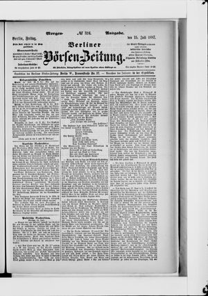 Berliner Börsen-Zeitung vom 15.07.1887