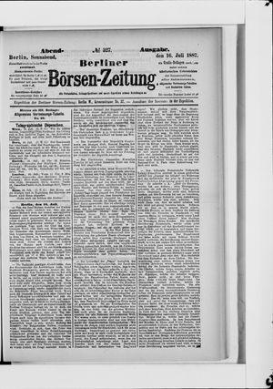 Berliner Börsen-Zeitung vom 16.07.1887