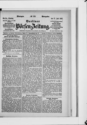 Berliner Börsen-Zeitung vom 17.07.1887