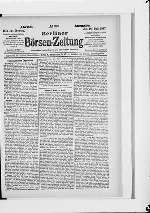 Berliner Börsen-Zeitung vom 18.07.1887