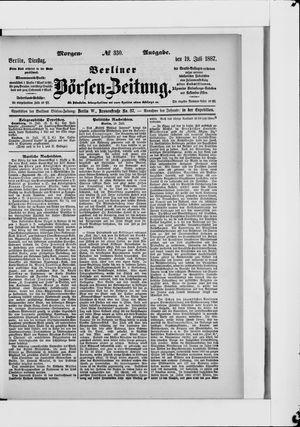 Berliner Börsen-Zeitung vom 19.07.1887
