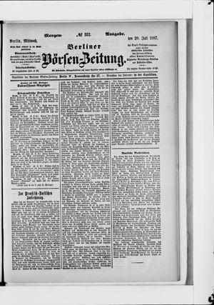 Berliner Börsen-Zeitung vom 20.07.1887