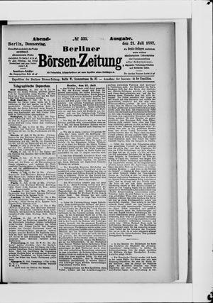 Berliner Börsen-Zeitung vom 21.07.1887
