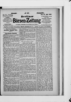 Berliner Börsen-Zeitung vom 22.07.1887