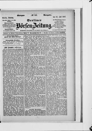 Berliner Börsen-Zeitung vom 24.07.1887