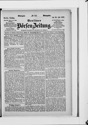 Berliner Börsen-Zeitung vom 26.07.1887
