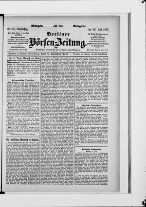 Berliner Börsen-Zeitung vom 28.07.1887