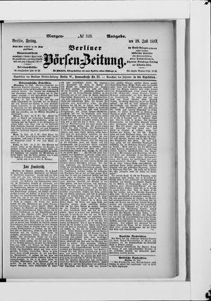 Berliner Börsen-Zeitung vom 29.07.1887