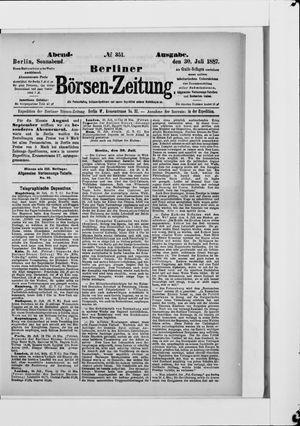 Berliner Börsen-Zeitung vom 30.07.1887