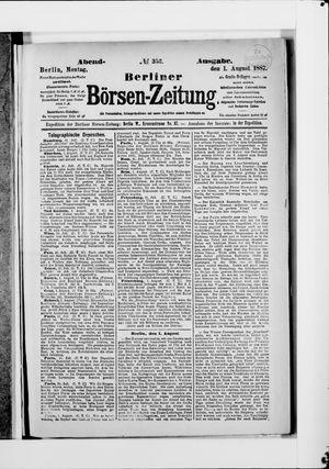 Berliner Börsen-Zeitung vom 01.08.1887