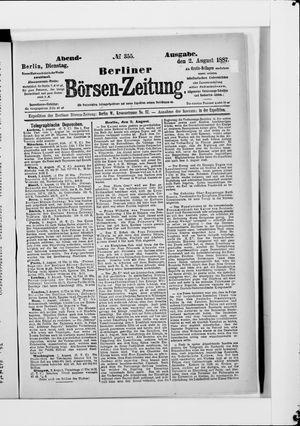 Berliner Börsen-Zeitung vom 02.08.1887