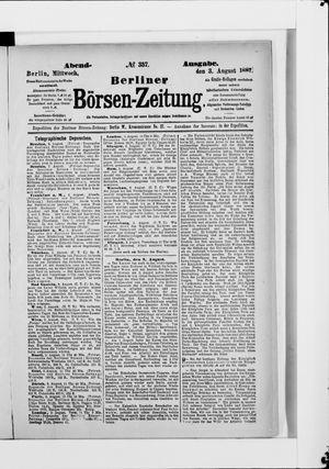Berliner Börsen-Zeitung vom 03.08.1887