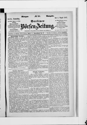 Berliner Börsen-Zeitung vom 04.08.1887