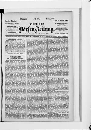 Berliner Börsen-Zeitung vom 09.08.1887
