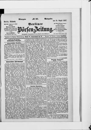 Berliner Börsen-Zeitung vom 10.08.1887