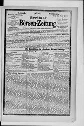 Berliner Börsenzeitung (19.06.1888)