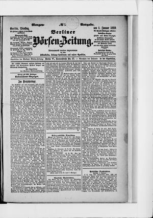 Berliner Börsen-Zeitung vom 01.01.1889