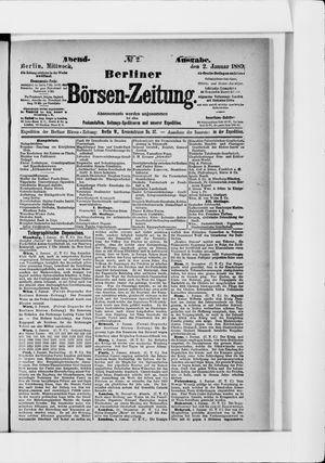 Berliner Börsen-Zeitung vom 02.01.1889