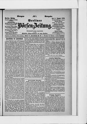 Berliner Börsen-Zeitung on Jan 4, 1889