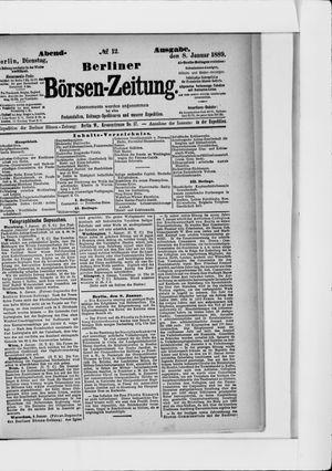 Berliner Börsen-Zeitung vom 08.01.1889