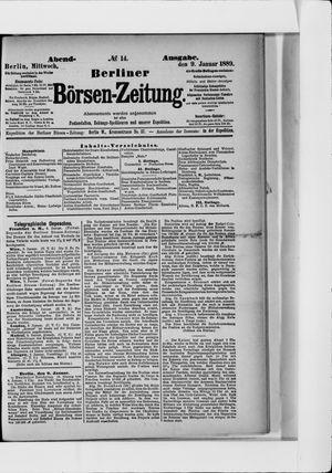 Berliner Börsen-Zeitung vom 09.01.1889