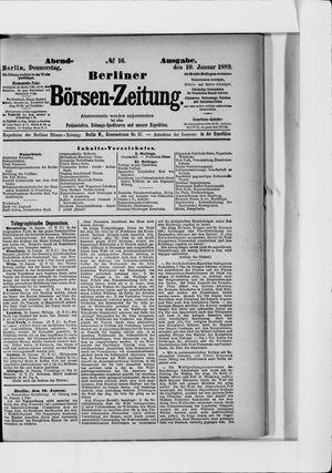 Berliner Börsen-Zeitung vom 10.01.1889