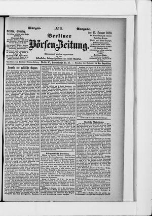 Berliner Börsen-Zeitung vom 13.01.1889